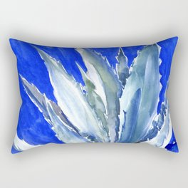 Blue Agave, Succulents, Blue Turquoise green plants design desert plants Rectangular Pillow