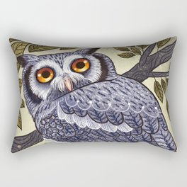 White Faced Owl Rectangular Pillow