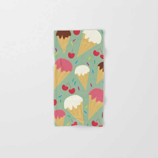 Ice Cream Cones Hand & Bath Towel