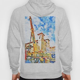 L'Aquila: people, cranes and bell towers Hoody