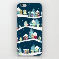 ski iPhone & iPod Skins featuring Apres Ski by Polkip