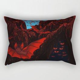 Terror Mountain Travel Poster Rectangular Pillow