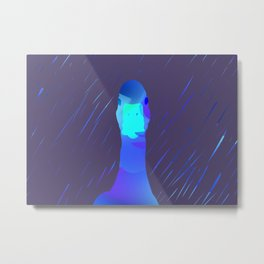 Duck in the rain Metal Print