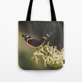 Landing on a flower Tote Bag