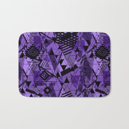 Abstract ethnic pattern in black, purple colors. Bath Mat