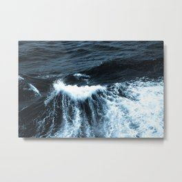 Dark Sea Waves Metal Print