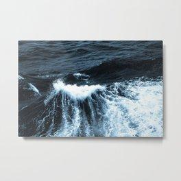 Dark Sea Waves Metal Print