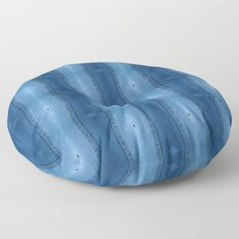 Denim Diamond Waves vertical patten Floor Pillow