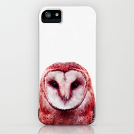 Red owl iPhone Case