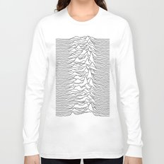 Unknown Pleasures - White Long Sleeve T-shirt