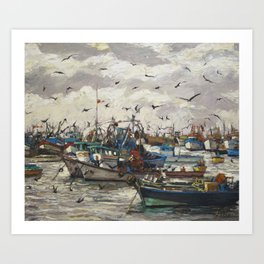 Fishing 6 Art Print
