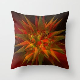 barth's decic overlayed with a fractal design Throw Pillow