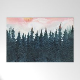 Forest Under the Sunset Welcome Mat