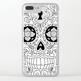 Candy Skull Clear iPhone Case