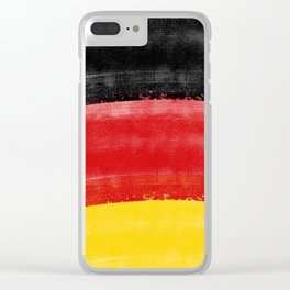 GERMAN FLAG for tote bags! İllustration and painting design! Clear iPhone Case