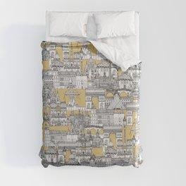 Paris toile gold Duvet Cover
