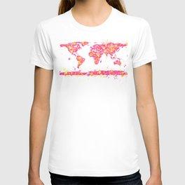 Graffiti World Map T-shirt