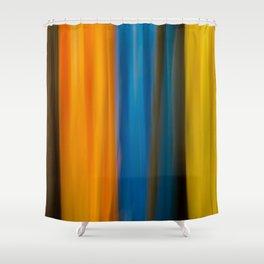 Blurred kayaks Shower Curtain