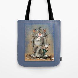 CAT WITH UMBRELLA Tote Bag