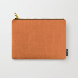 Solid Bright Halloween Orange Color Carry-All Pouch