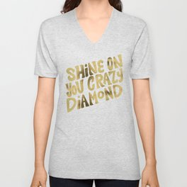 Shine On You Crazy Diamond – Gold Palette Unisex V-Neck