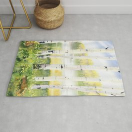 Behind The Birch Trees Rug