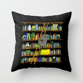 It's Ok to Be a Slow Reader (Black) Throw Pillow