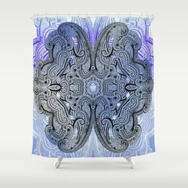 paisley star in royal blue Shower Curtain