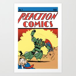 Reaction Comics Art Print