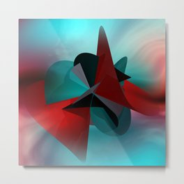 3 colors for a polynomail Metal Print
