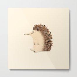 Happy Hedgehog Sketch Metal Print