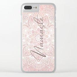 Pink Mandala, Namaste Greeting, Yoga Clear iPhone Case