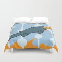 platypus Duvet Covers featuring PrettyPlatypus by Costanza Reda