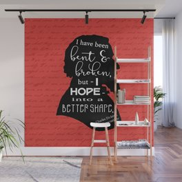 Into a Better Shape - Dickens (Red) Wall Mural