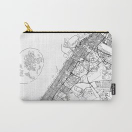 Dubai White Map Carry-All Pouch