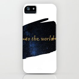 To The World — Good Omens Fanart iPhone Case