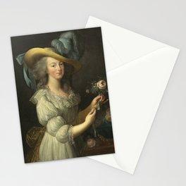 Vigee - Lebrun - Portrait of Marie Antoinette in a Muslin dress Stationery Cards