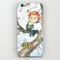 cabin pressure iPhone & iPod Skins featuring Cabin Pressure: Uskerty by theo-doras