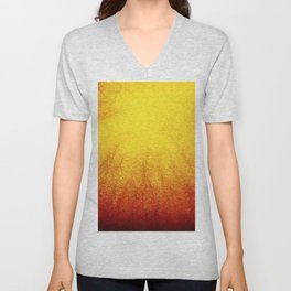 Linear Radial Sunset Unisex V-Neck