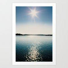 River Sparkles Art Print