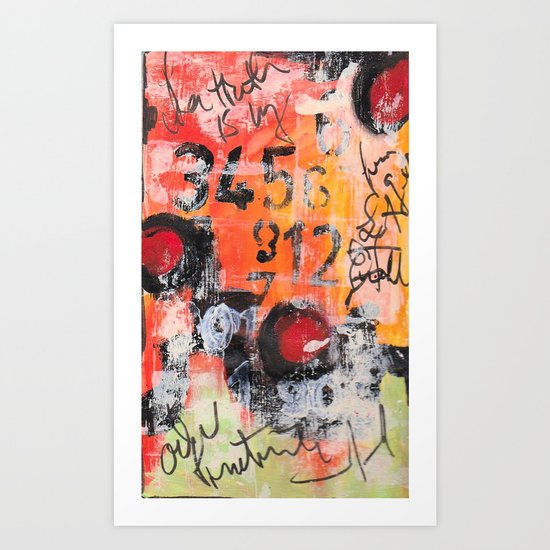 The Numbers Game Art Print