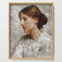 Virginia Woolf, Author Serving Tray