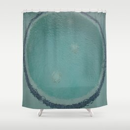 jacuzzi in the rain Shower Curtain
