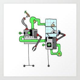 Robo-Ham Art Print
