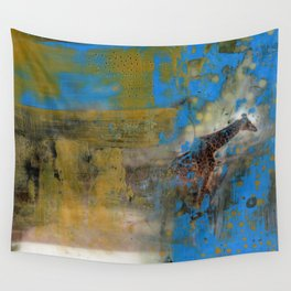 Blue Safari Wall Tapestry