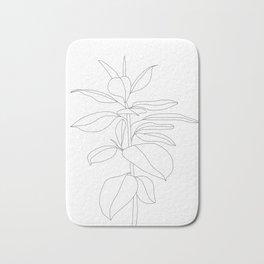 Minimal Rubber Tree Bath Mat