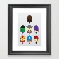 The Avengers: Earth's Mightiest Popsicles Framed Art Print
