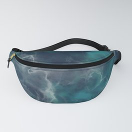 Deep Turquoise Marble Fanny Pack