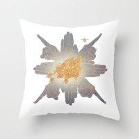 compass Throw Pillows featuring Compass by Rhea Ewing