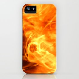Sparkling flames iPhone Case